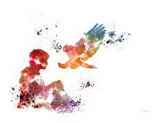 KUNSTDRUCK von Harry Potter Hedwig Eule Illustration von SubjectArt