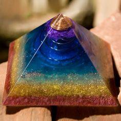 Orgone Energy Orgonite Pyramid Rainbow