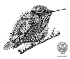 Hummingbird (work in progress) by BioWorkZ.deviantart.com on @deviantART