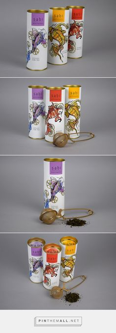 Sabi Japanese Tea by Aubrey Kohl. Source: Daily Package Design Inspiration. Pin curated by #SFields99 #packaging #design