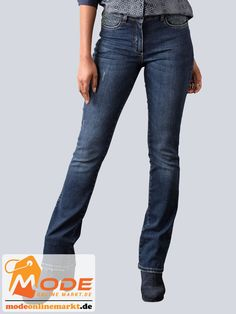 Push Up Jeans in Bootcut Form mit dezenten Destroyed Effekten in modischer Waschung Ziernieten Besatz an den vord... #BAUR #AlbaModa #Rabatt #20 #Marke #Alba #Moda #Farbe #blau #grau #Material #Baumwolle #Elasthan #Wolle #Onlineshop #BAUR #Damen #Bekleidung #Damenmode #Hosen #Jeans #PushUp #Sale | sportliche Outfits, Sport Outfit | #mode #modeonlinemarkt #mode_online #girlsfashion #womensfashion Push Up Jeans, Alba Moda, Sport Outfit, Mode Online, Form, Material, Pants, Fashion, Athletic Outfits