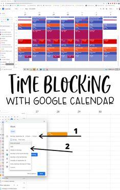Time Management Printable, Time Management Quotes, Time Management Strategies, Google Calendar, Calendar Organization, Life Organization, Calendar Time, Planning Calendar, Goal Planning