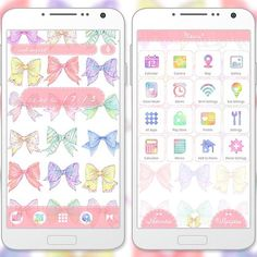 """Cute Colorful Ribbons"" 6/6 '15 Softly colored ribbons make this theme easy on the eyes and easy as pie to use! Great for showing off your girly side. http://app.android.atm-plushome.com/app.php/app/themeDetail?material_id=1272&rf=pinterest #cute #wallpaper #kawaii #girl #beautiful #plushome #ribbon"