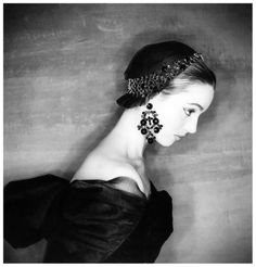 Elsa Martinelli in Givenchy, photo by Clifford Coffin for Vogue Paris, 1954