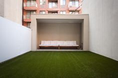 The condo has a private outdoor space, which is rare in NYC.