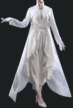 Wedding Suits For Bride, White Wedding Suit, Prom Suit And Dress, Dress Suits, Dance Outfits, Dance Dresses, Violet Evergarden, Fancy Suit, Kawaii Dress