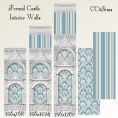 Formal castle interior walls at CC4Sims via Sims 4 Updates #Sims4