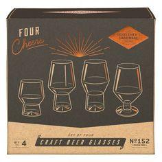 4 verres à dégustation Buvez votre bière avec style Verres de formes différentes #verres #biere #saintpatrick #saintpatricksday #party #soiree #glasses #alcool #alcohol #fun #design