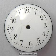 4 St. Emaille Zifferblätter für Taschenuhren, Zifferblatt, pocket Clock, Watches, Home Decor, Enamel, Watch, Homemade Home Decor, Wristwatches, Clocks, Clocks