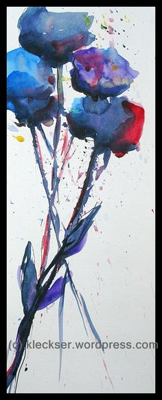 Abstract Watercolor Paintings | Watercolor – Abstract Flowers | The Kleckser Art Blog - Original Art ...