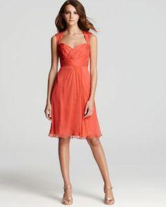 Amsale Short Dress - Cap Sleeve Sweetheart  Bloomingdale's