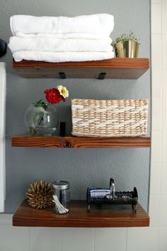 DIY Floating -  Corner Brace Shelf Brackets