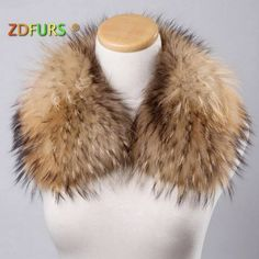 Women's Collar Scarf Real Fur Raccoon ZDC-163010 Save this photo on your board if you ❤️ it.