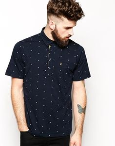 Farah Vintage Polo with All Over Tattoo Inspired Print in Slim Fit | ASOS