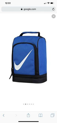 195b9009a1d0 Nike two compartments insulated lunch box tote bag for school boys girls  NWT  fashion
