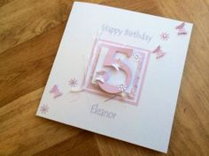 Girls Personalised Handmade Birthday Card 1st 2nd 3rd 4th 5th 6th 7th 8th 9th 10