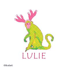 INSTANT DOWNLOAD  Lilly Pulitzer style Christmas monkey svg