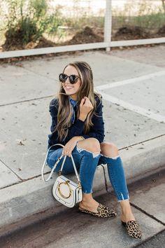 jeans and leopard mules | merricksart.com