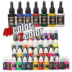 47 Bottles of Tattoo Ink / 40*8mL and 7*15mL – USD $ 31.99