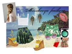 """Mincheeya feathers"" by mincheeya ❤ liked on Polyvore featuring Zimmermann, Steve Madden, MAC Cosmetics, Serefina, Dolce&Gabbana, Betsey Johnson, Casetify and Lime Crime"