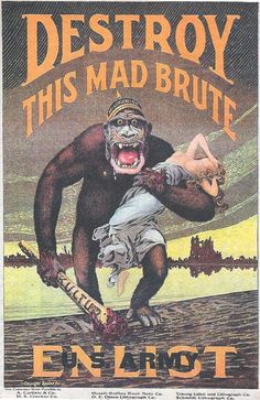 Good old Allied propaganda poster from World War One.
