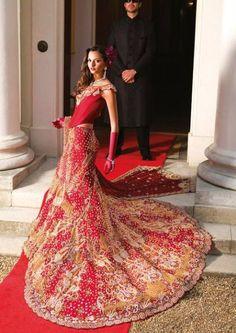red indian wedding dress