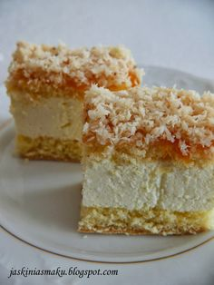 Polish Desserts, Polish Recipes, Brownie Recipes, Cake Recipes, Dessert Recipes, Poke Cakes, Lava Cakes, Cheesecake, Sandwich Cake