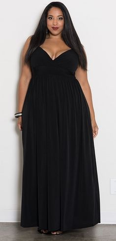 Sabrina Maxi Dress - Black ONLY 2 LEFT! SIZE 2X SIZE 3X Plus Size Clothing SALE - Take EXTRA 50% OFF ALL SALE ITEMS - Use Code: SUMMERSALE