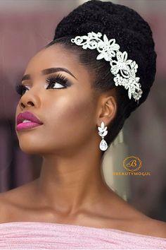 Tips for Black Women Prepare Hair Make-up Trials Natural Bridal Hair, Natural Wedding Hairstyles, Bridal Hair Buns, Natural Hair Updo, Bridal Hair And Makeup, Hair Makeup, Bridal Hairstyles, Bridal Hairpiece, Bridal Gown