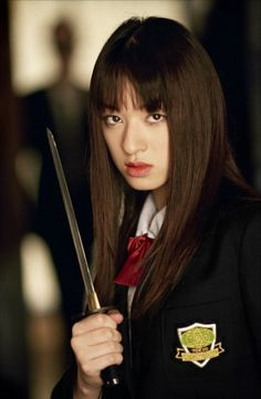 CHIAKI KURIYAMA Kill Bill, volume 1 - Film Kill Bill, Kill Bill Vol 1, Japanese School, Badass Women, Samurai, Quentin Tarantino, Lucy Liu, Kuriyama Chiaki, Beautiful Asian Women