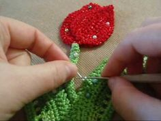 Video on connecting Irish Crochet motifs.  It is in Russian but you don't need to know the language to understand the technique - it is all visual.