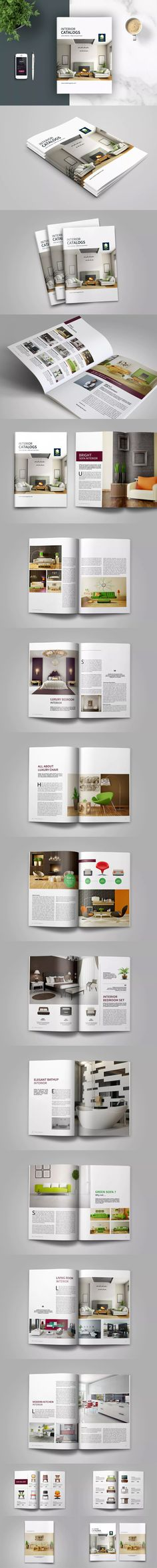 Interior Brochure / Catalogs / Magazine Template InDesign INDD - A4 and US Letter Size