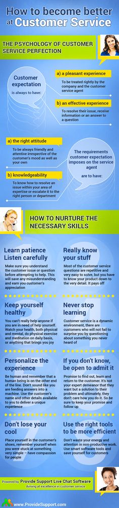 How to become better at customer service [Infographic]: http://www.providesupport.com/blog/how-to-become-better-at-customer-service-infographics/ #infographic #customerservice #custserv