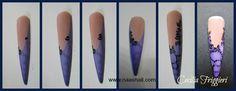 Nail Art micropittura roselline-effetto gocce-tartarugato tutorial step by step - N.a.a.S.