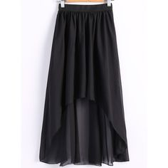 Women s Chiffon Pleated Elastic Waist Dovetail Skirt (16 BAM) ❤ liked on Polyvore featuring skirts, elastic waistband skirt, elastic waist skirt, knee length pleated skirt, stretch waist skirt and pleated skirts
