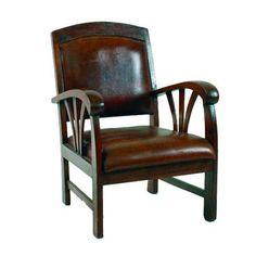 ACHICA | Brown Leather Sedan Chair