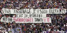 #Striscione dei tifosi fiorentini in @ACF_Fiorentina-@OfficialASRoma durante il campionato di calcio @SerieA_TIM 2007-2008