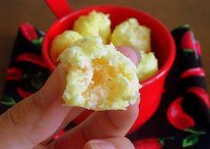 nuvens de queijo (clara + parmesão)