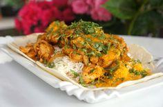 Μεξικάνικα φιλετάκια κοτόπουλου Spring Rolls, Cauliflower, Chicken, Meat, Vegetables, Mexico, Recipes, Food, Tips