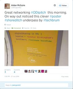 #techbrum - Positive tweets from the campaign