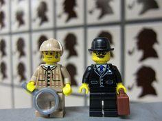 I need these! LEGO Sherlock Holmes & Watson @ Baker Street Station