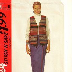 A Straight Wrap Skirt and Lined Vest Pattern