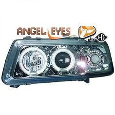Lhd projector #headlights headlamp pair #angel eyes clear #chrome audi a3 96-03,  View more on the LINK: http://www.zeppy.io/product/gb/2/351965814199/