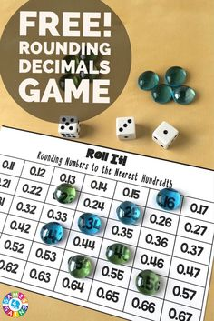 This hands-on rounding decimals game provides a really fun way to practice this skill!