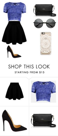 """Untitled #86"" by karenrodriguez-iv on Polyvore featuring Topshop, Christian Louboutin, Kate Spade, Casetify, women's clothing, women, female, woman, misses and juniors"