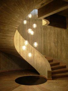 lustre para escada estilo modernista