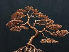 Large wire sculpture based from an informal bonsai tree Wire Tree Sculpture, Resin Sculpture, Sculptures, Wire Wrapped Jewelry, Wire Jewelry, Wire Bracelets, Wire Rings, Beaded Jewelry, Handmade Jewelry