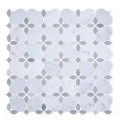 Grey Blend Polished Marble Hex Mosaic 3 X 3 In