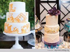 Stunning Vintage Lace Wedding Cake Ideas | Nigerian Wedding