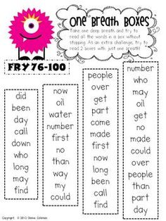 h One Breath Boxes - Fry Words 1-300...Now the question is, do we make them as planned, or just buy them?? So tempting!